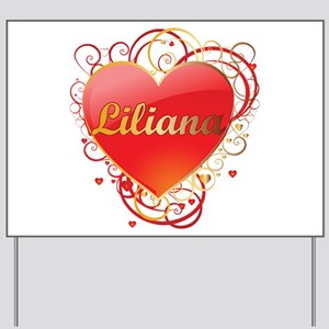 Liliana Valentines Yard Sign