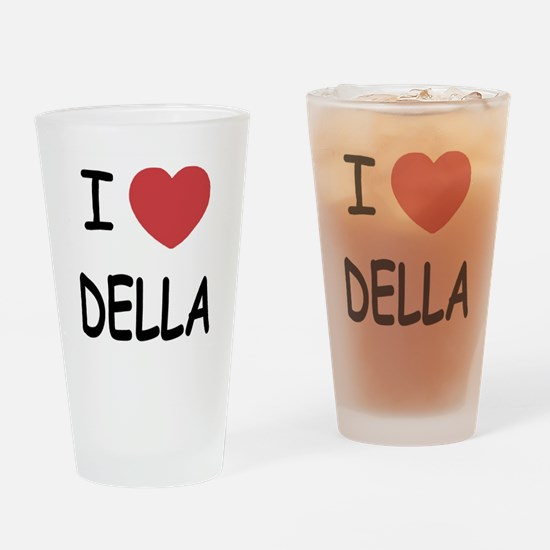I heart della Drinking Glass