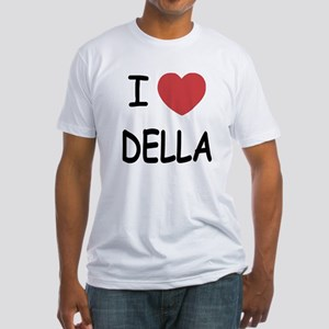 I heart della Fitted T-Shirt