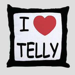 I heart telly Throw Pillow