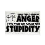 Anger vs. Stupidity Rectangle Magnet