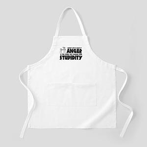 Anger vs. Stupidity Apron