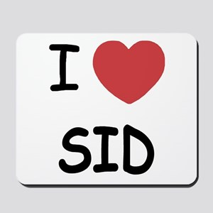 I heart sid Mousepad