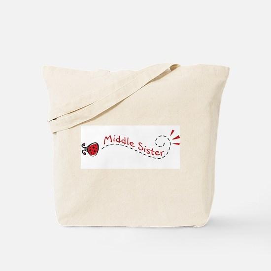 Middle Sister Ladybug Tote Bag