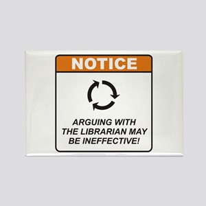 Librarian / Argue Rectangle Magnet