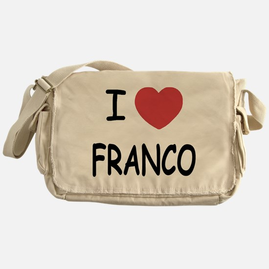 I heart franco Messenger Bag