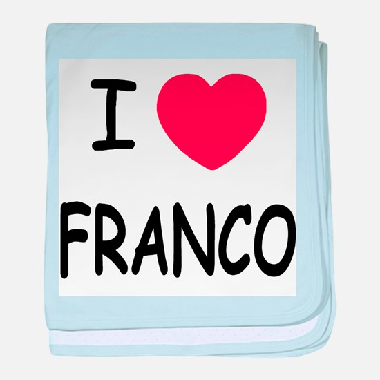 I heart franco baby blanket