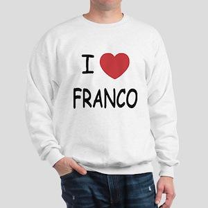I heart franco Sweatshirt