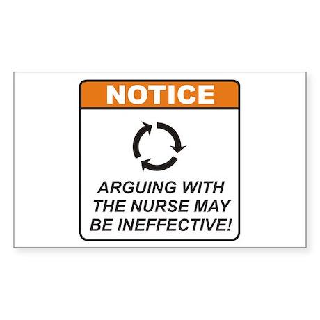 Nurse / Argue Sticker (Rectangle 50 pk)