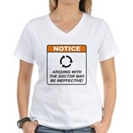 Doctor / Argue Women's V-Neck T-Shirt