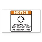 Doctor / Argue Sticker (Rectangle 50 pk)