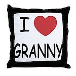 I heart granny Throw Pillow