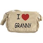 I heart granny Messenger Bag