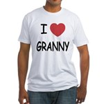 I heart granny Fitted T-Shirt
