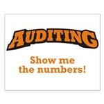 Auditing / Numbers Small Poster