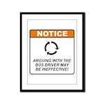 Bus Driver / Argue Framed Panel Print