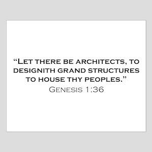 Architect / Genesis Small Poster