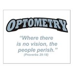 Optometry / Perish Small Poster