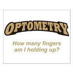 Optometry / Fingers Small Poster