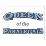 Queen Paralegal Small Poster