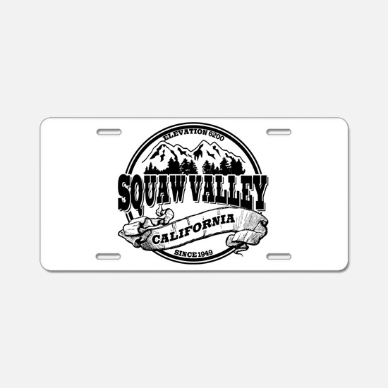 Squaw Valley Old Circle Aluminum License Plate