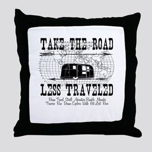 Road Less Traveled Throw Pillow
