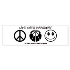 Life with Harmony Bumper Sticker