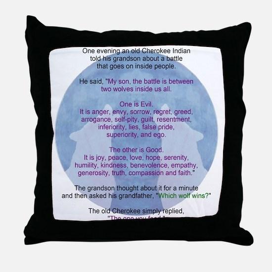 Wolf Wisdom Throw Pillow
