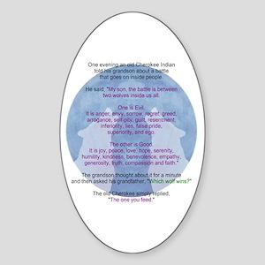 Wolf Wisdom Sticker (Oval)