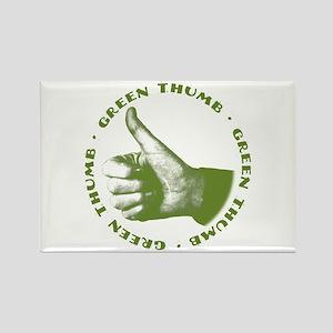 Green Thumb Rectangle Magnet