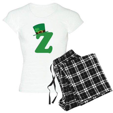 St. Patrick's Day Letter Z Women's Light Pajamas