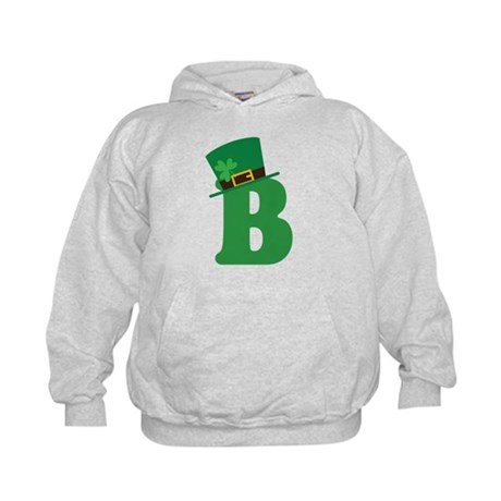 St. Patrick's Day Letter B Kids Hoodie