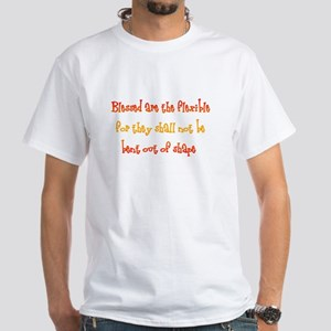 Blessed are the flexible, for White T-Shirt