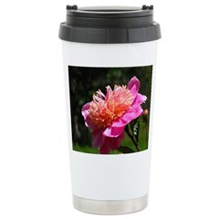 Peony Stainless Steel Travel Mug