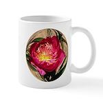 Red Peony Flower Mug #1