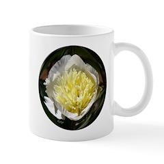 White Peony Flower Mug #1
