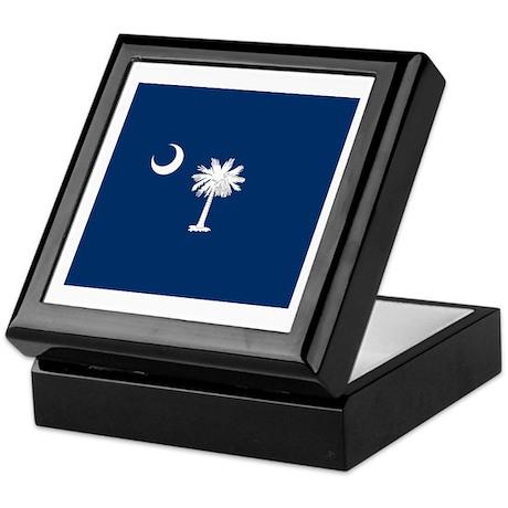 South Carolina Palmetto Flag Keepsake Box