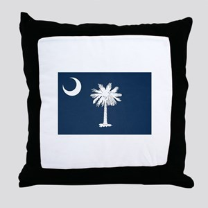 South Carolina Palmetto Flag Throw Pillow