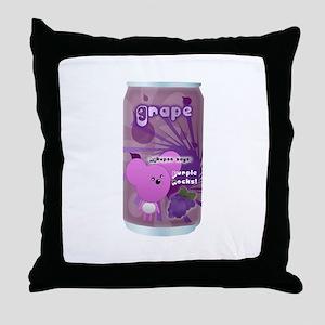 Grape Cola Throw Pillow