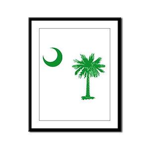 South Carolina Palmetto Flag Framed Panel Print