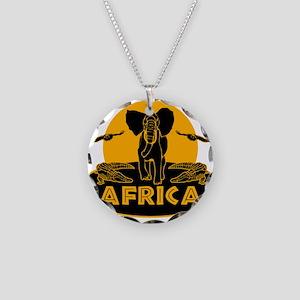 Africa Safari Necklace Circle Charm