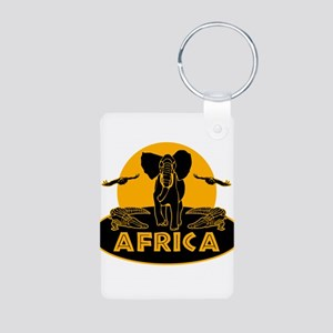 Africa Safari Aluminum Photo Keychain