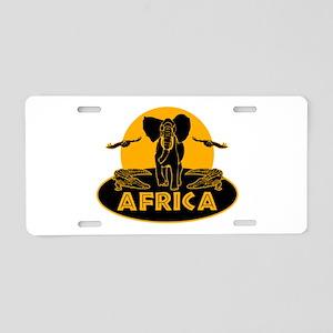 Africa Safari Aluminum License Plate