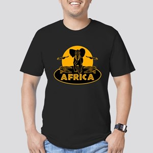 Africa Safari Men's Fitted T-Shirt (dark)