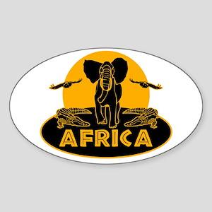 Africa Safari Sticker (Oval)