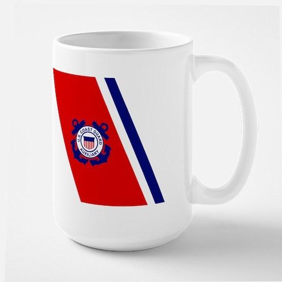 USCG Auxiliary Stripe<BR> 15 Ounce Mug