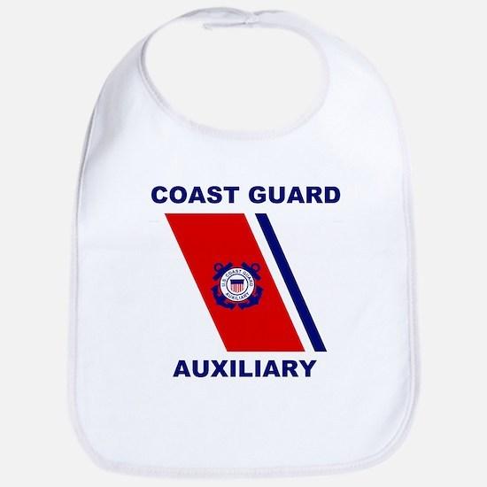 USCG Auxiliary Stripe<BR> Baby Bib