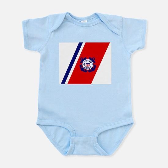 USCG Auxiliary Stripe<BR> Infant Creeper