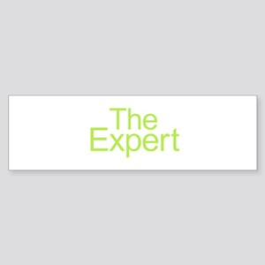The Expert - Green Bumper Sticker