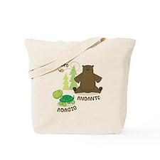 Allegro Andante Music Quote Tote Bag